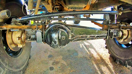 Solid axle of a truck